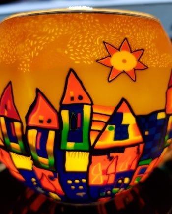 Leuchtglas Stad Hundertwasser