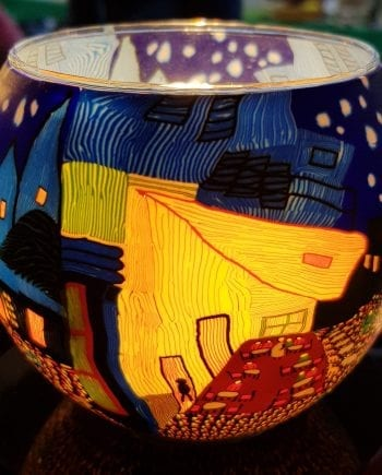 Leuchtglas Cafe by Night