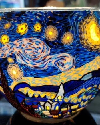 Leuchtglas Starry Night
