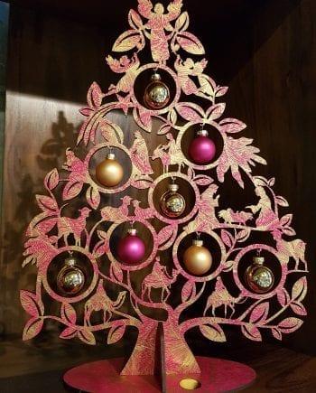 Kölnschätze Kerstboom Nativity Roze