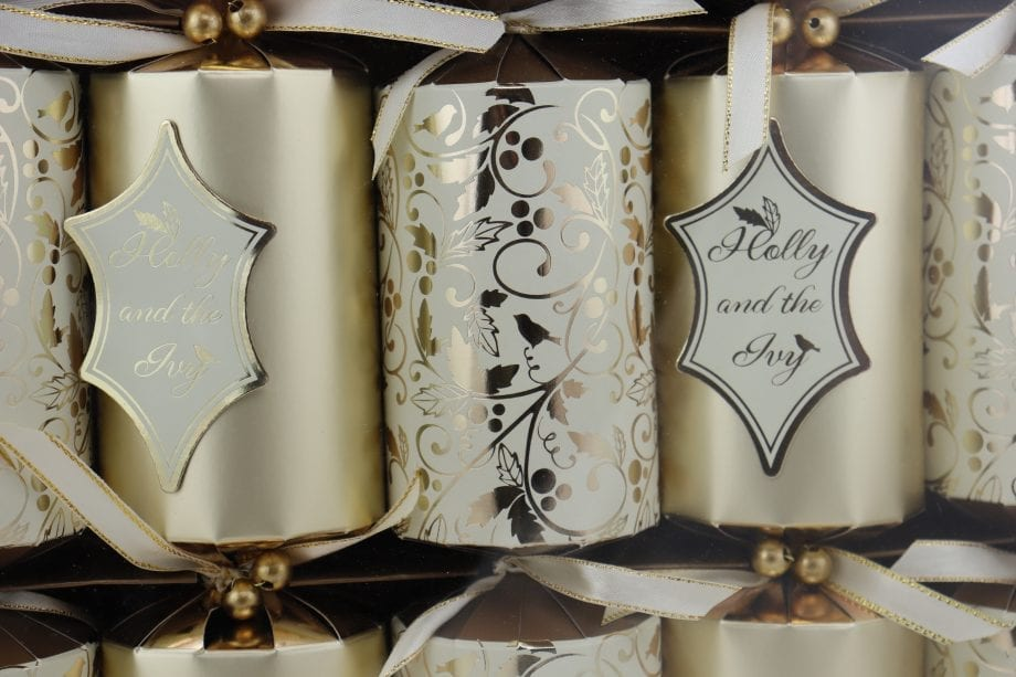 6 DELUXE GOLD GLITTER CRACKERS