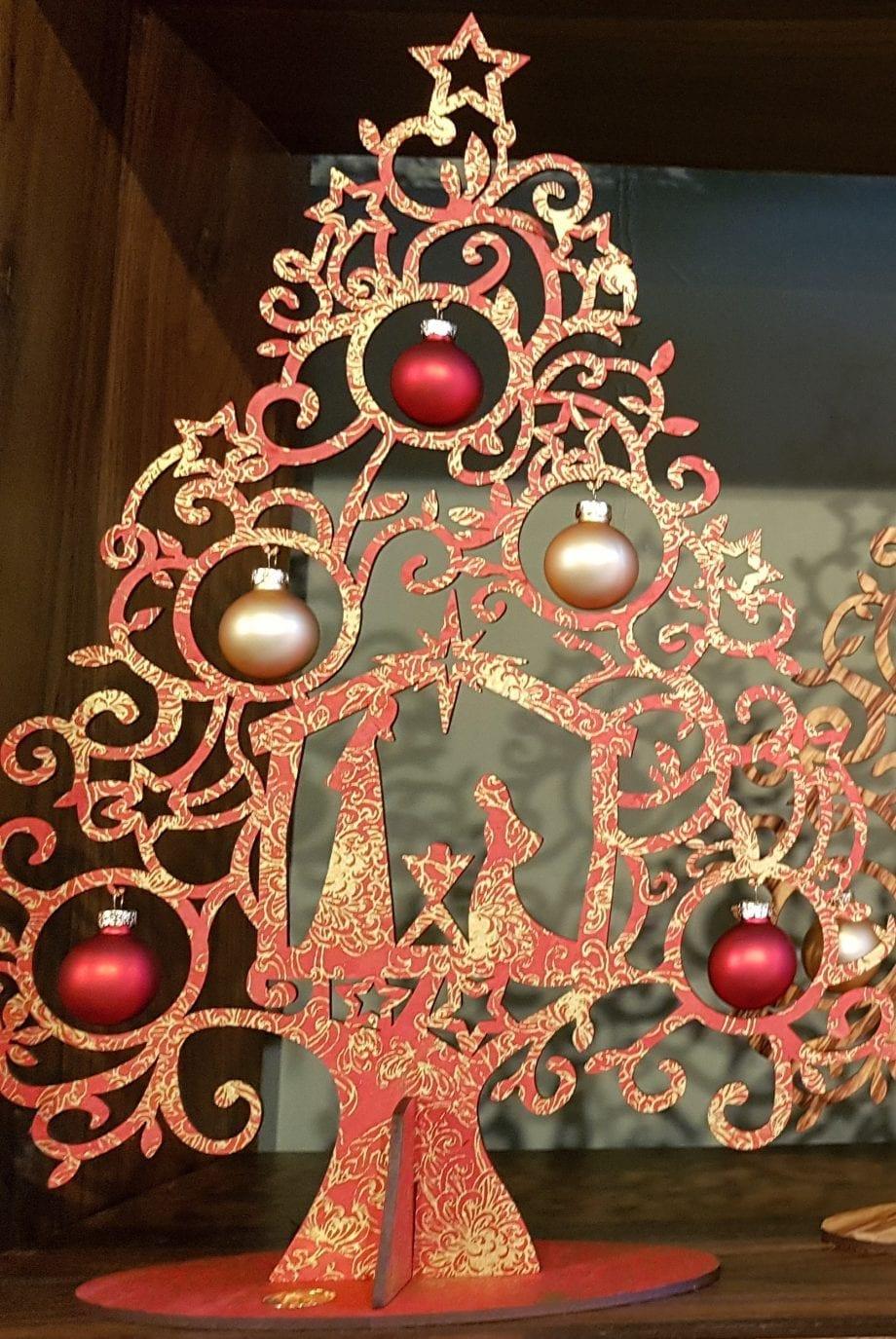 Kölnschätze Kerstboom Nativity Red