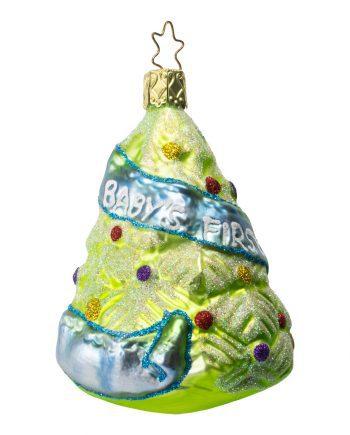 Inge Glas Baby's First Christmas Blauw